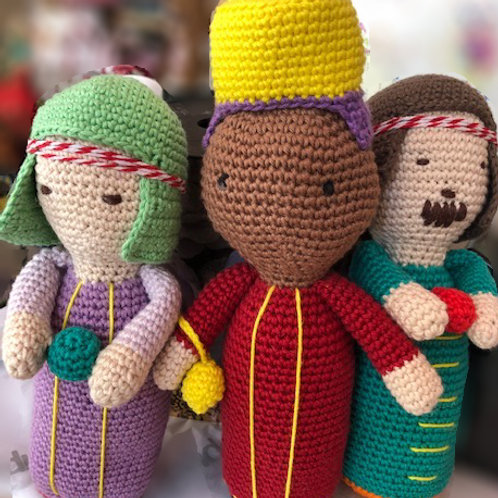 Handmade Crochet Three Kings - Nativity Figures