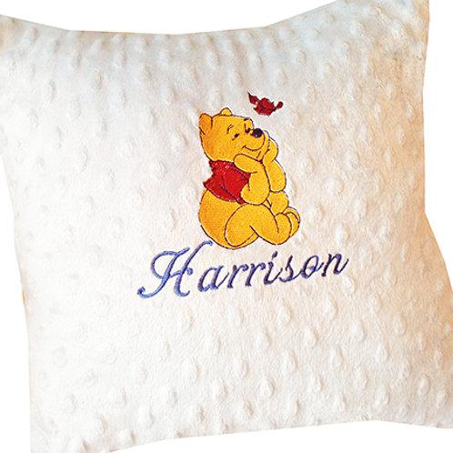 Winne the Poo Cushion on Fleece