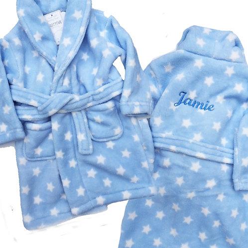 Blue Soft Luxury 'Star' Bathrobe
