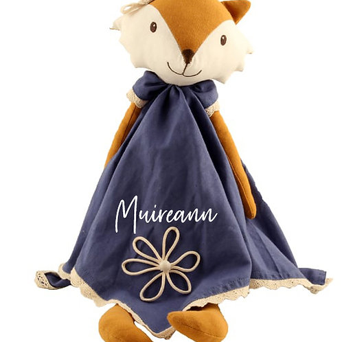 Fox Doll/Comforter - PERSONALISED