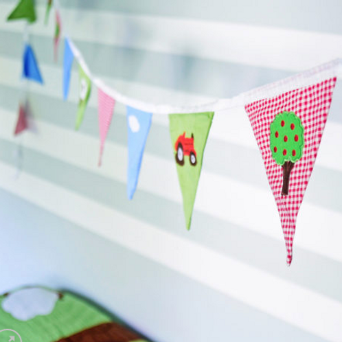 Tractor themed Child's  Bedroom Bunting