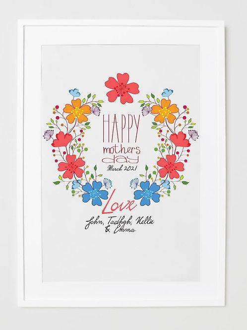 Happy Birthday Mum - Personalised Frames
