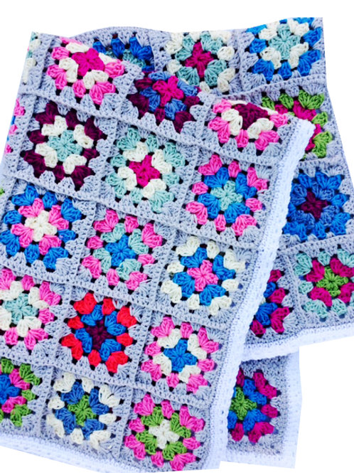 Granny Square Cotton Blanket - HANDMADE