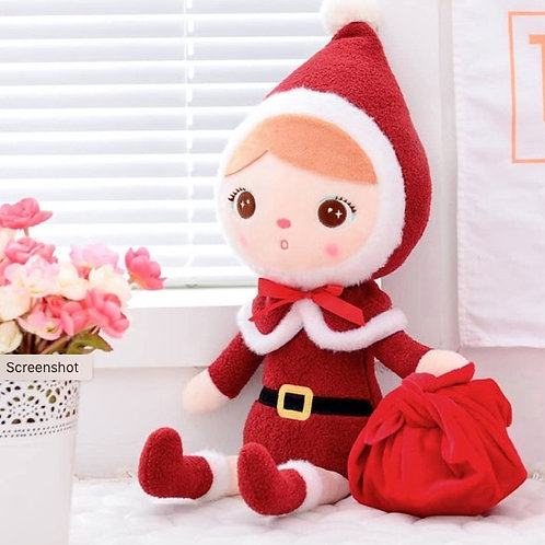 Meetoo© Plush Christmas Girl  – PERSONALISED