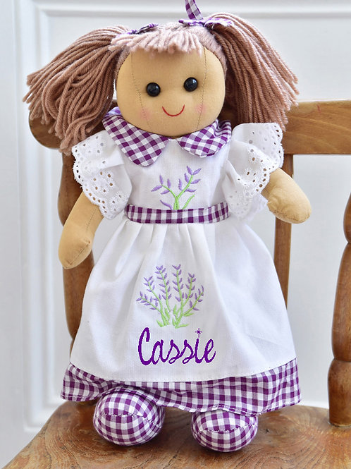 Lavender themed Rag Doll – PERSONALISED