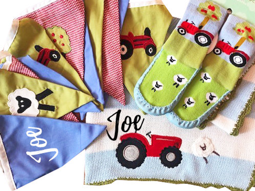 Tractor themed Baby Packs - Personalised