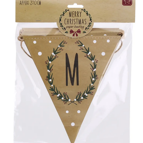 Merry Christmas Paper Bunting