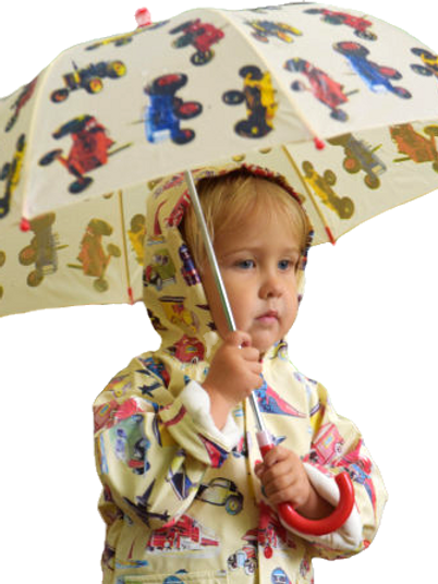 Tractor themed child's Umbrella