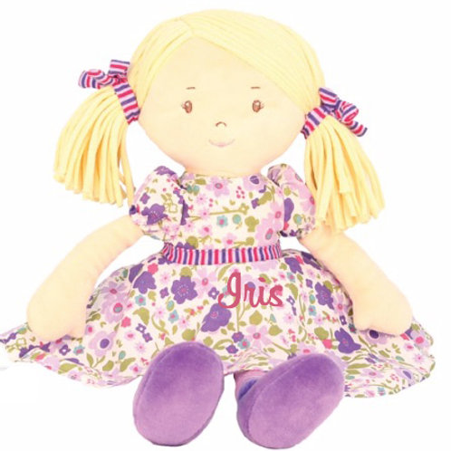 Ragdoll in Purple Floral theme - PERSONALISED