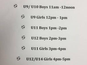 Football Marathon Timetable