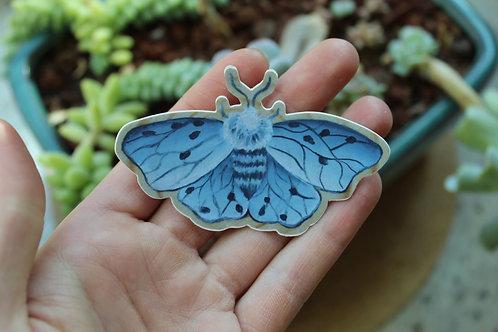 Moth die cut stickers