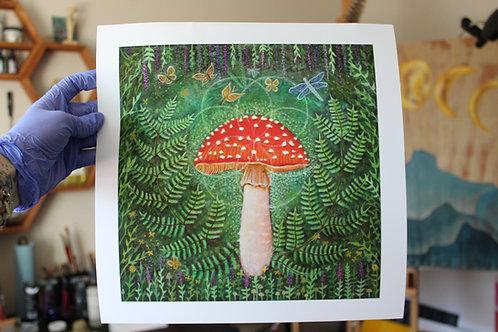 Enchanted Amanita archival print