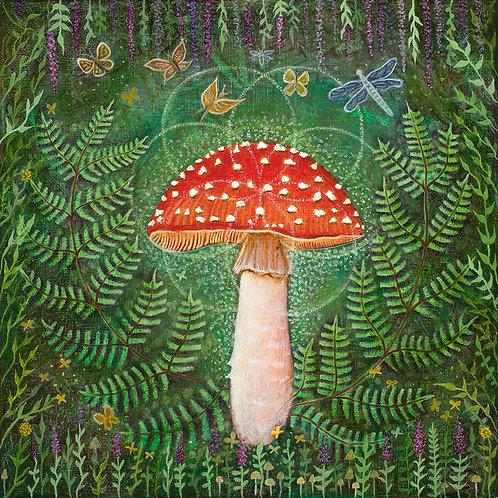 Enchanted Amanita original painting