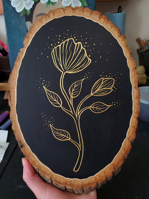 Golden Gingko original painting