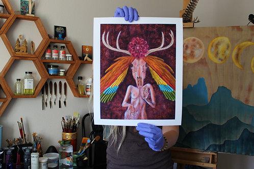 Pagan Priestess archival prints