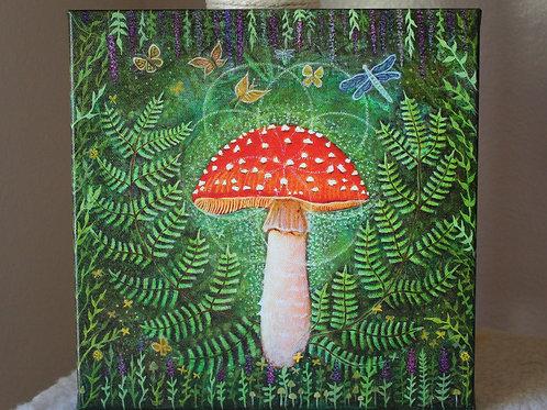 Enchanted Amanita canvas prints