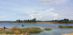 Panoramic View of Natural Lake in Samalaju Integrated Phosphate Complex