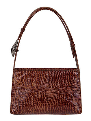 SALA Brown Snake Embossed Leather