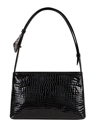 SALA Black Snake Embossed Leather