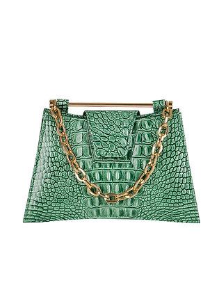 IVA Green Croco Embossed Leather