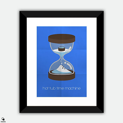Hot Tub Time Machine Alternative Framed Print - Hourglass