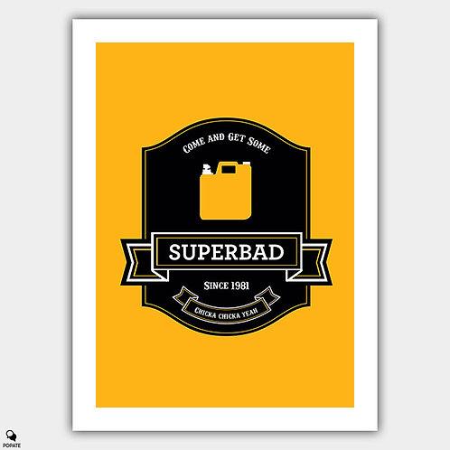 Superbad Alternative Poster - Label
