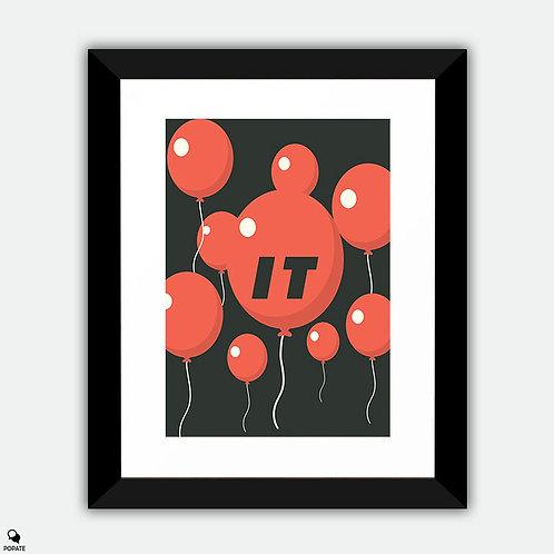 IT Minimalist Framed Print - Balloon Float