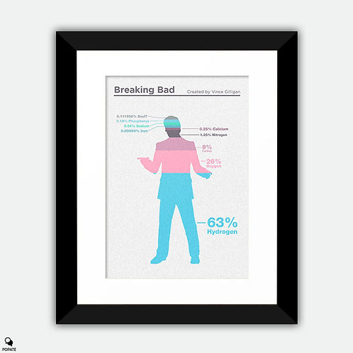 Breaking Bad Minimalist Framed Print - Composition of Saul Goodman