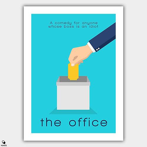 The Office Minimalist Poster - Golden Ticket