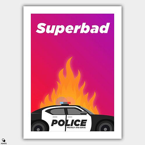 Superbad Minimalist Poster - Fuck The Police