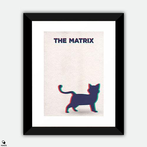 The Matrix Minimalist Framed Print - Deja Vu