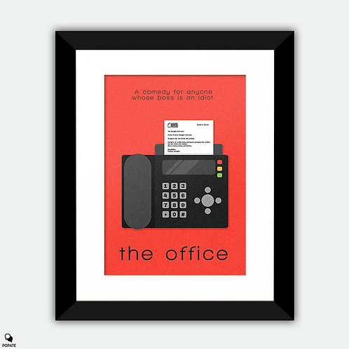 The Office Minimalist Framed Print - Future Dwight