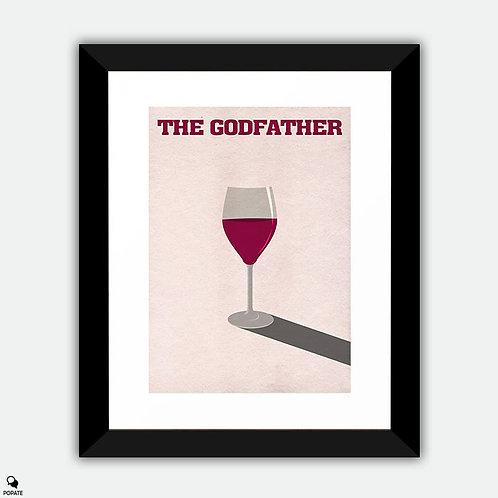 The Godfather Minimalist Framed Print - Wine
