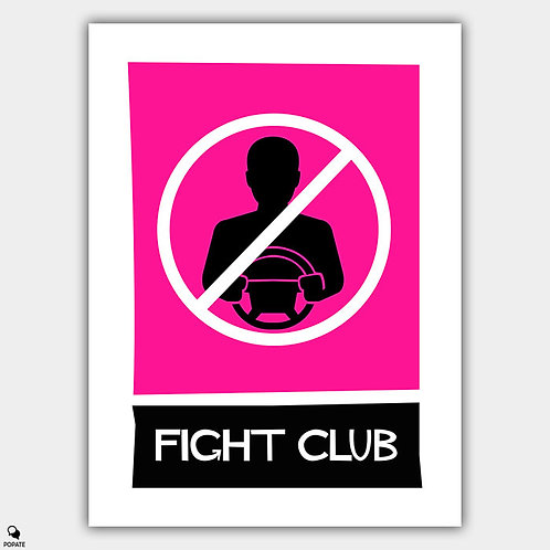 Fight Club Alternative Vintage Saul Bass Style Poster - Let Go