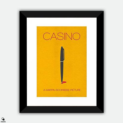 Casino Alternative Minimalist Framed Print