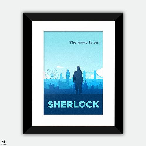 Sherlock Alternative Framed Print - The Game is On