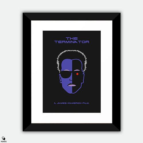 The Terminator Minimalist Framed Print