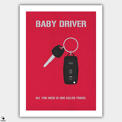 Baby Driver Alternative Poster - Car Key