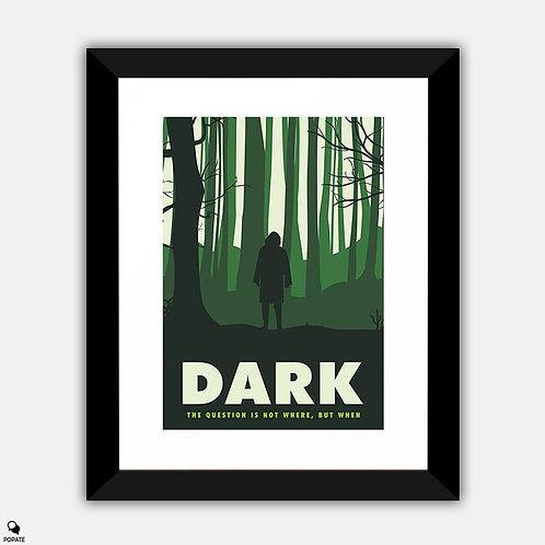 Dark Minimalist Framed Print - The Stranger