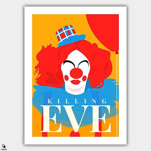 Killing Eve Minimalist Poster - Clown