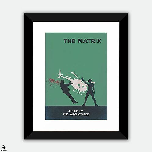 The Matrix Minimalist Framed Print - Dodge This