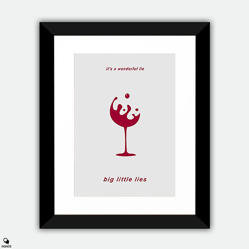 Big Little Lies Minimalist Framed Print - Wine Glass