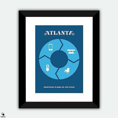 Atlanta Minimalist Framed Print - The Streisand Effect