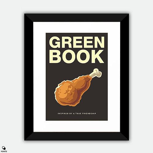 Green Book Alternative Framed Print - Fried Chicken