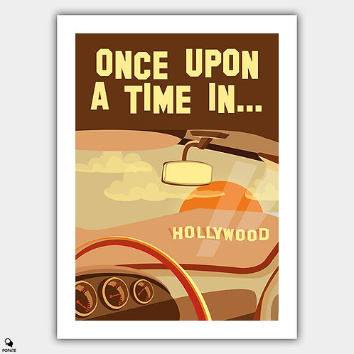 Once Upon A Time in Hollywood Alt Vintage Poster