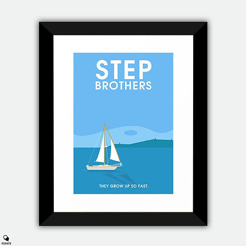 Step Brothers Minimalist Framed Print