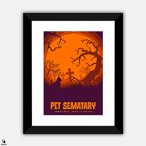 Pet Sematary Alternative Framed Print