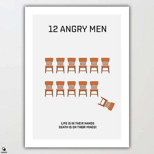 12 Angry Men Minimalist Poster - Chairs