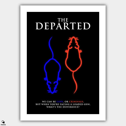 The Departed Minimalist Poster - Rat