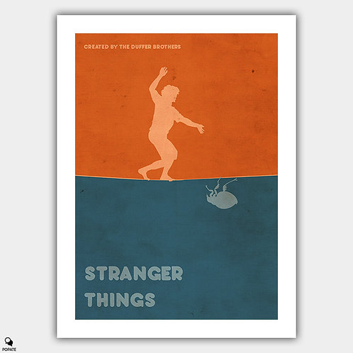 Stranger Things Minimalist Vintage Poster
